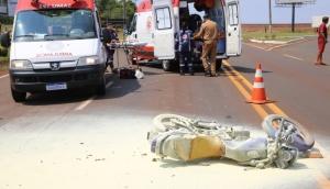Grave acidente é registrado na PR-497 no trevo de acesso à Itaipulândia -