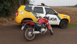 Polícia Militar recupera moto furtada em Itaipulândia -