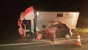 Matelândia: Motorista de veículo morre em colisão frontal na BR-277 -