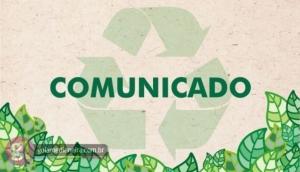 Missal: Comunicado recolha de materiais recicláveis no Ano Novo -