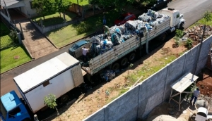 São Miguel: Carga de materiais recicláveis apreendida é doada para a associação AMAR -