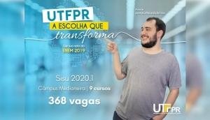 UTFPR: SISU 2020 oferta mais de 300 vagas nos 9 cursos do Câmpus de Medianeira -