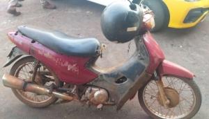 PM de Matelândia aprende Biz irregular e com placa de moto que havia sido furtada em Ramilândia -