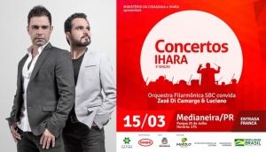 Show Zezé Di Camargo & Luciano e Orquestra acontece em Medianeira no dia 15 de março -