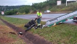 São Miguel: Motociclista fica ferido em acidente na BR-277 -