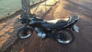 Motocicleta furtada é recuperada pela PM em Itaipulândia -