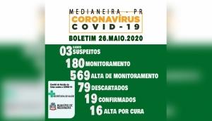 Boletim Oficial Covid-19 - 26 de maio -