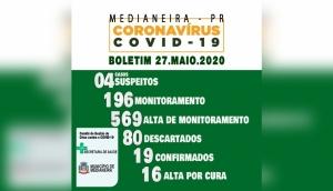 Boletim Oficial Covid-19 - 27 de maio -