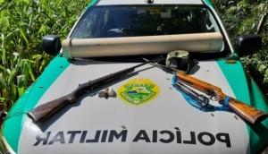 Polícia apreende materiais de caça ilegal no Parque Nacional em São Miguel do Iguaçu -