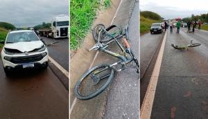 Matelândia: Ciclista morre e outro fica gravemente ferido em acidente na BR 277 -