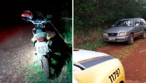 Ramilândia: PM recupera caminhonete e motocicleta que haviam sido roubadas -