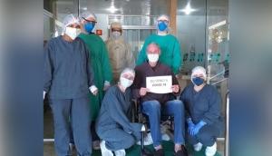Hospital e Maternidade Nossa Senhora da Luz registra mais uma alta de paciente recuperado da Covid-19 -