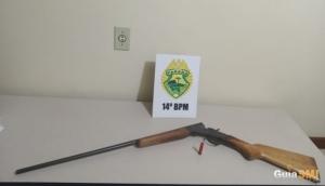 Homem é preso por ameaçar vizinho com arma de fogo em Itaipulândia -