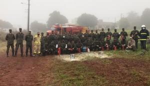 Medianeira: Corpo de Bombeiros promove treinamento para Tiro de Guerra -