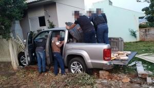 Missal: PM apreende Amarok carregada com cocaína após perseguição -