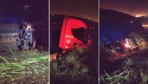 Matelândia: Carreta e veículo se envolvem em acidente na BR 277 -