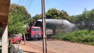 Bombeiros são acionados para combater incêndio em vegetação no Bairro Itaipu -