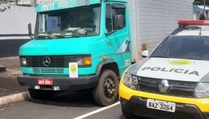 Polícia Militar de Ramilândia recupera caminhão roubado em São Miguel do Iguaçu -