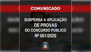 Suspensas as provas do Concurso Público que aconteceriam nos dias 27/09 e 04/10 -