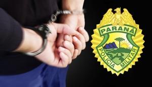 Itaipulândia: Com dois mandados de prisão em aberto, acusado de roubar celular é preso pela PM -