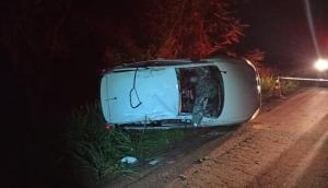 Serranópolis: Capotamento deixa um morto e outro gravemente ferido na PR 495 -