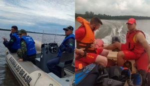 São Miguel: Bombeiros e Marinha seguem com buscas por homem desaparecido no Lago de Itaipu -