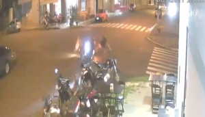 Medianeira: Motociclista invade preferencial e causa acidente no Bairro Cidade Alta -