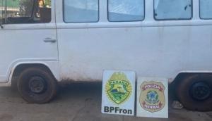 Operação Hórus: BPFRON e Polícia Federal apreendem veículo com cigarros contrabandeados em Itaipulândia -