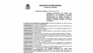 Medianeira: Confira o novo decreto com as restrições para funcionamento do comércio -