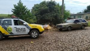 São Miguel: PM recupera Belina que havia sido furtada e usada em assalto -