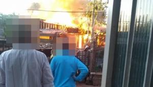 Medianeira: Família tem casa destruída em incêndio no Bairro Cidade Alta -
