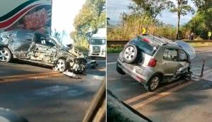 Acidente na BR 277 deixa uma pessoa ferida em Matelândia -