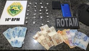 São Miguel: ROTAM prende duas pessoas por tráfico de drogas no centro -