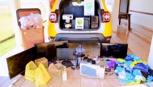 Polícia Militar de Itaipulândia recupera objetos furtados em CMEI -