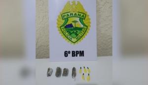 Matelândia: PM apreende droga e detém uma pessoa em cumprimento à mandado de busca e apreensão -