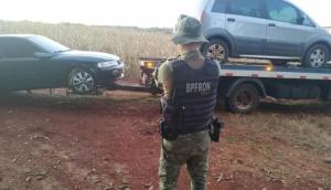 BPFRON apreende dois veículos carregados de cigarros em São Miguel do Iguaçu -