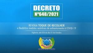 São Miguel: Governo Municipal revoga Toque de Recolher e flexibiliza as medidas restritivas -