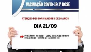 Campanha de Vacinação contra a Covid-19 em Missal será nas Unidades dos Distritos -