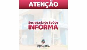 Secretaria de Saúde de Medianeira informa que as doses de reforço estão suspensas -