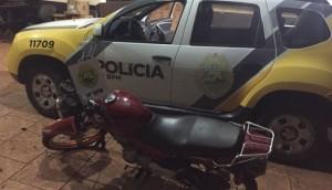 São Miguel: Moto é apreendida pela PM após condutor tentar fugir de abordagem -